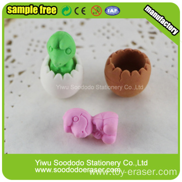 Green Dinosaur Egg Shaped Eraser