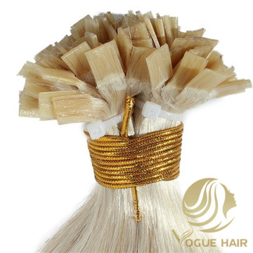 100 Remy cuticle falt tip hair extensions
