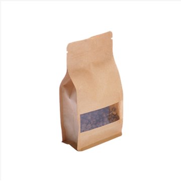 Sealed Kraft Paper Food Packaging Bag