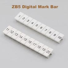 10/20/50pcs ZB5 Digital marker strip Din Rail Terminal Block UK-3N MBKKB2.5 bornier Mark bar morsettiera terminals Marking label