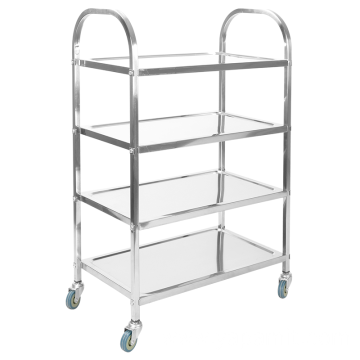 Stainless Steel Four Layer Hotpot Trolley