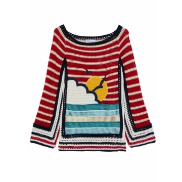 100% Cotton Handmade Women Winter Sweater