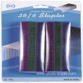 26/6 Colorful Office Blister Packing Staple Needles
