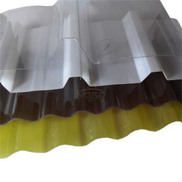 1Mm Roofing Polycarbonate Transparent Corrugated Sheet