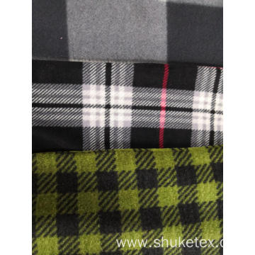 Polar Fleece print check design Knitting Fabric