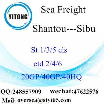 Shantou Port Sea Freight Shipping To Sibu