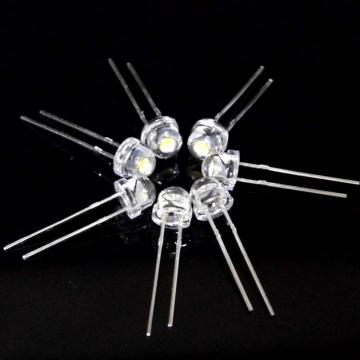 5mm Straw Hat White LED Warm White 2400-2600mcd