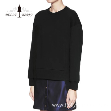 Black Knit Round-Neck Men's Jumper Sweatshirt