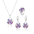 Elegant Fashion Jewelry Set with Colorful CZ