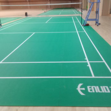 Indoor PVC badminton floor with BWF
