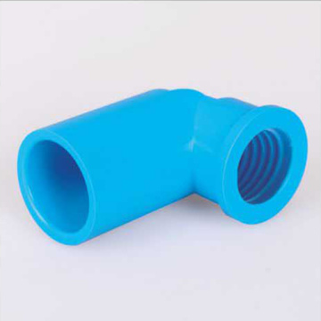 UPVC JIS K-6743 Pressure Female Elbow 90° Blue