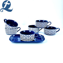 Design Stoneware Ceramic Soup Bowl Set with Handle