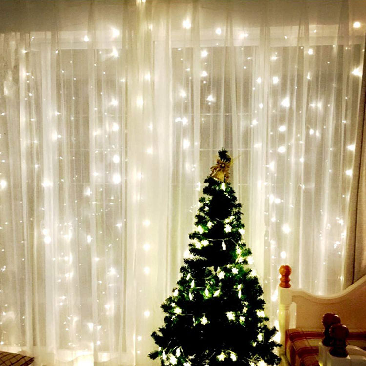 christmas outdoor curtain lights
