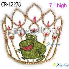 Custom Frog Rhinestone Pageant Crowns