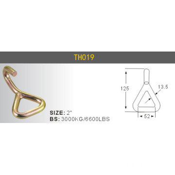 "Heavy Duty Durable Steel Ratchet Hooks 2"" 2T/3T4T/5T"