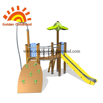 Slide And Panel Climber Outdoor For Children
