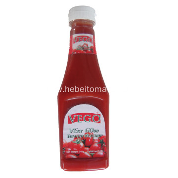 wholesale squeeze bottle plastic bottle 340g tomato ketchup