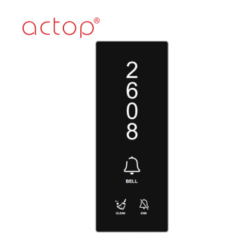 low voltage doorplate with led light display