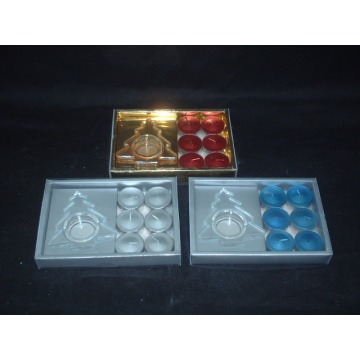 Colored Gift Box Metallic Tea Lights