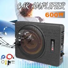 600W Car Subwoofer Under Seat Thin Active 10 Inch Car Amplifier Stereo Non-destructive Speaker Control Car Speaker Auto Music