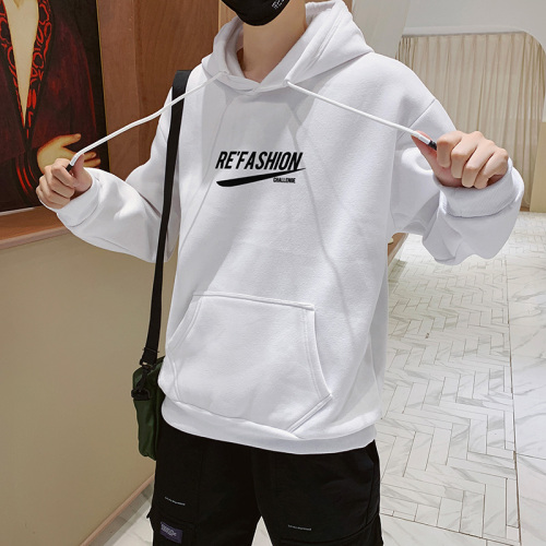 2020 New Men's polyester cotton hooded sweatshirt