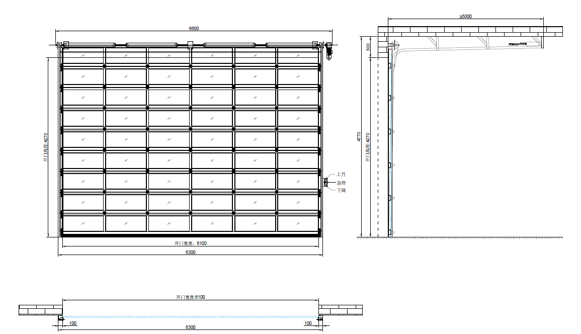 garage door floor plan