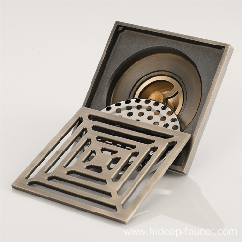 HIDEEP Bathroom Accessories Ideal Balcony Brass Floor Drain