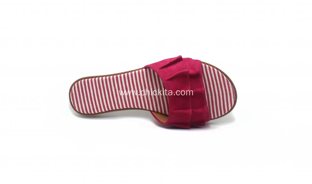 Comfortable Leisure Fold design Ladies Slippers