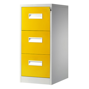 Yellow 3 Drawer File Cabinet
