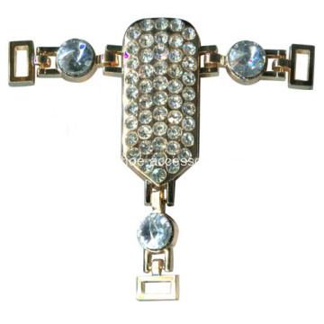 Shinning Sandal Chain Rhinestone Trimming, Sparking Rhinestone Chain Sandals for Lady Party