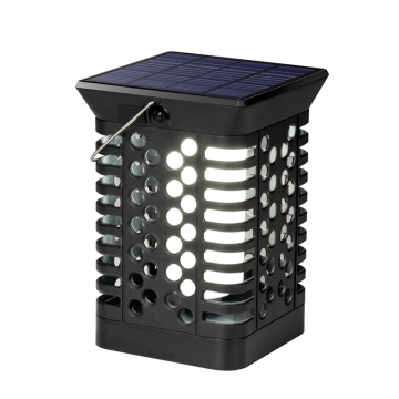 Outdoor Hanging Solar Lamp with Flickering Flame Effect