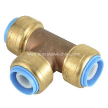Lead Free Brass Push Fit Fnpt Tee Fitting
