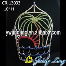 Summer Beach Coconut Tree Round Tiara Crown