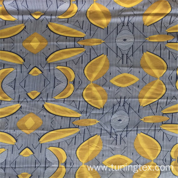 Rayon Leaves Print Fabric