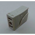 Household push wire connector with release button