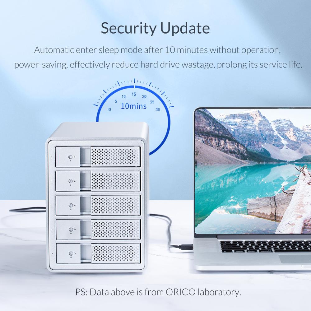 ORICO 95 Series 3.5 inch HDD Docking Station 2 Bay 32TB Aluminum USB3.0 HDD Enclosure with 36W External Power Adapter HDD Case