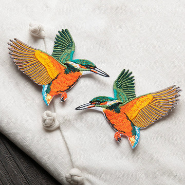 Patch Bird Embroidery Iron on Patches Clothing Animal