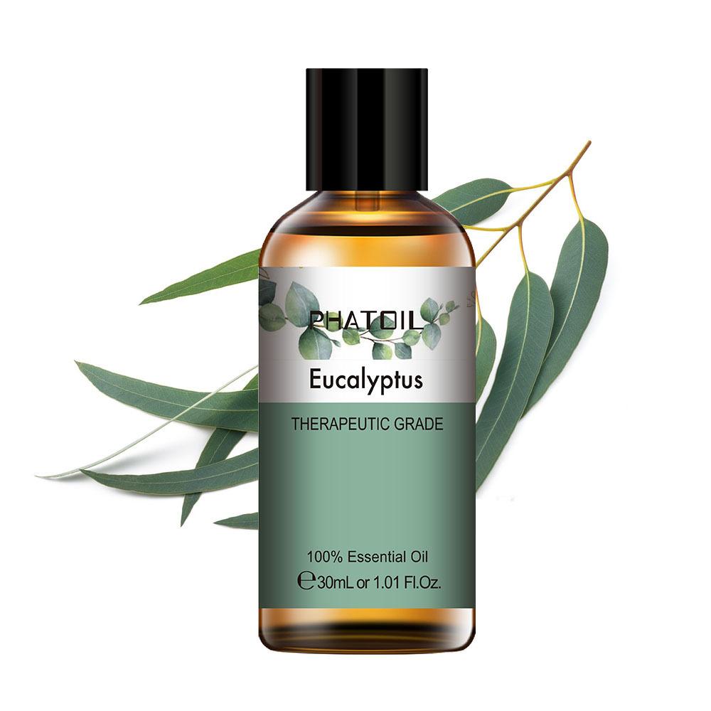 PHATOIL 30ML Eucalyptus Essential Oils for Humidifier Rose Lavender Jasmine Peppermint Sandalwood Bergamot Tea Tree Aroma Oil