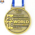 World championships gold metal medal design for sale