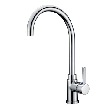 Hot and cold single hole faucet