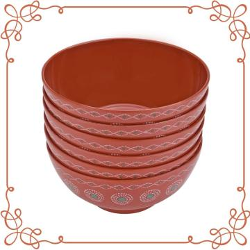 8 Inch Melamine Deep Bowl Set of 6