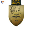 Custom made gold shield metal medals