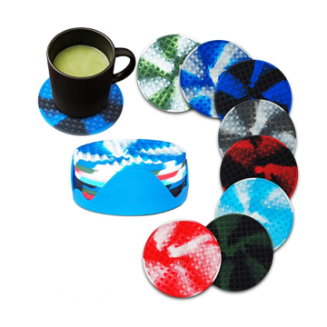 BPA Free Silicone Drink Cups Glass Coasters