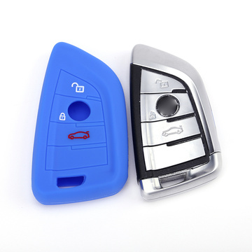 Colored rubber key covers for BMW X5 X3
