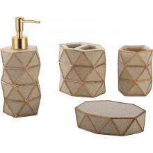 Luxury Polyresin Bathroom Accessory Set 4-piece