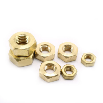 Brass Hex Yellow nuts