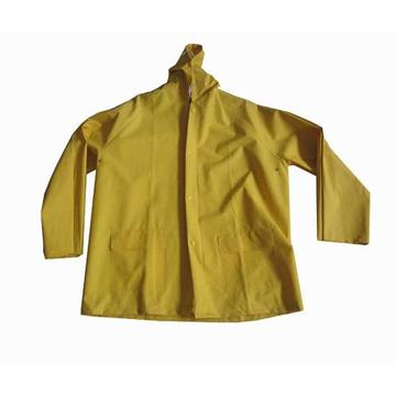 Yellow Pvc Polyester Raincoat