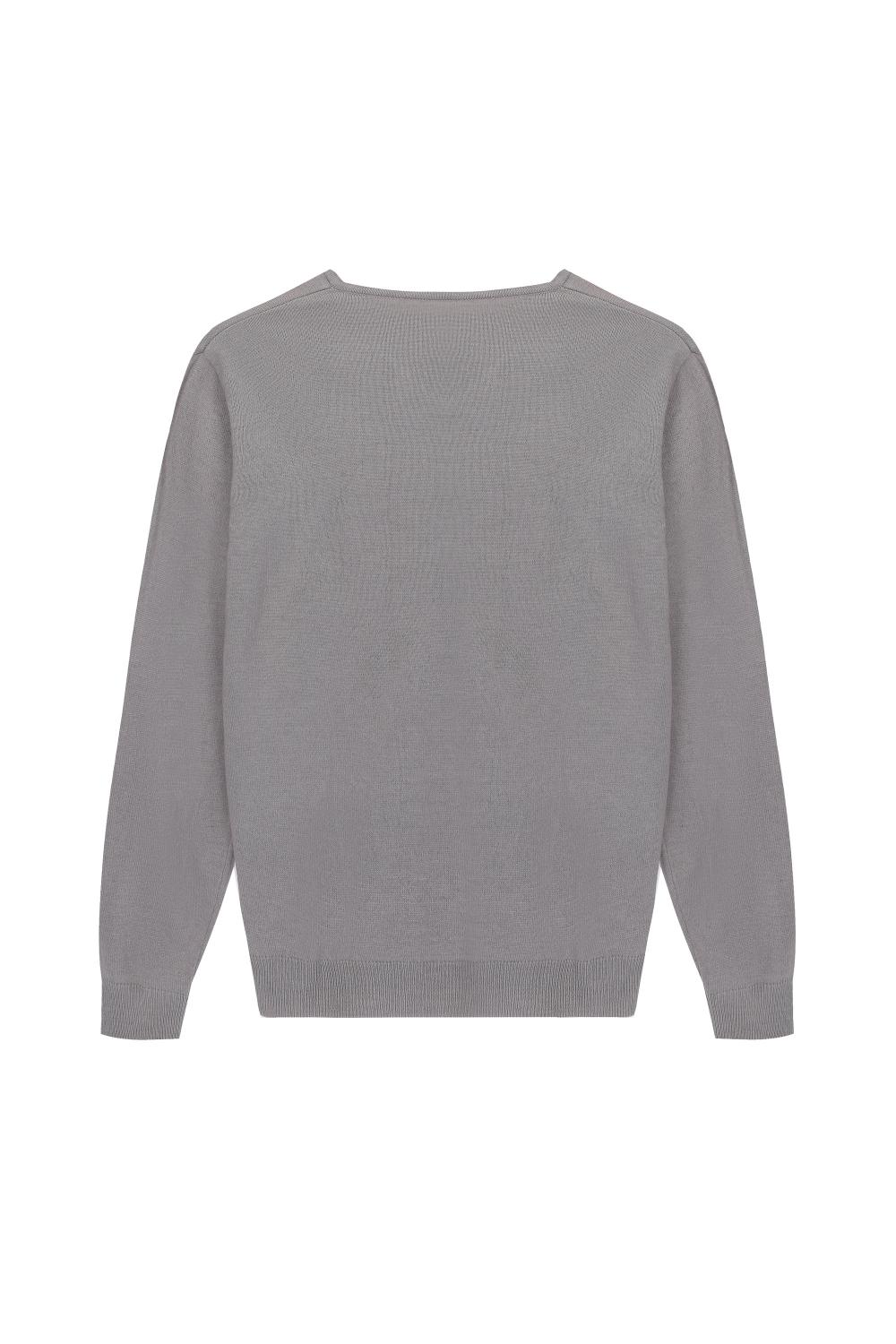 Men's Knitted Essential Wool/Acrylic V-neck Pullover