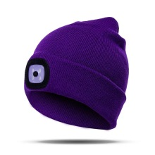 LED beanie hat with lamp knitted hat