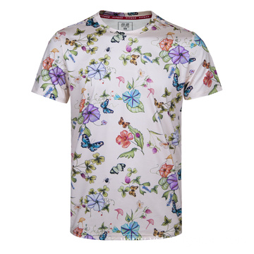 Men's Moisture Wicking Dry Fit T Shirt Butterfly